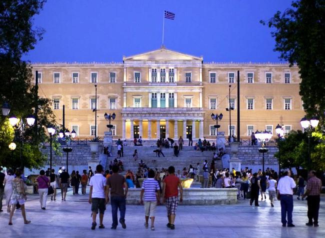 Piazza Syntagma ad Atene.