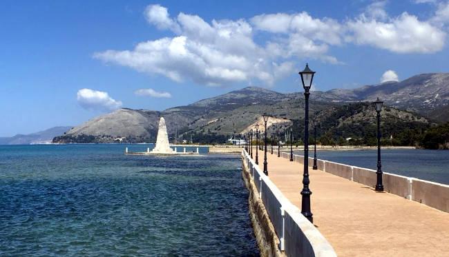 Il ponte di De Bosset o di Drapano ad Argostoli.
