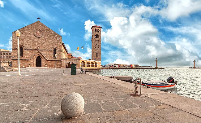 Porto di Rodi in Grecia.