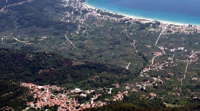 Il villaggio di Potamia e la sua bellissima zona costiera di Skala Potamias.
