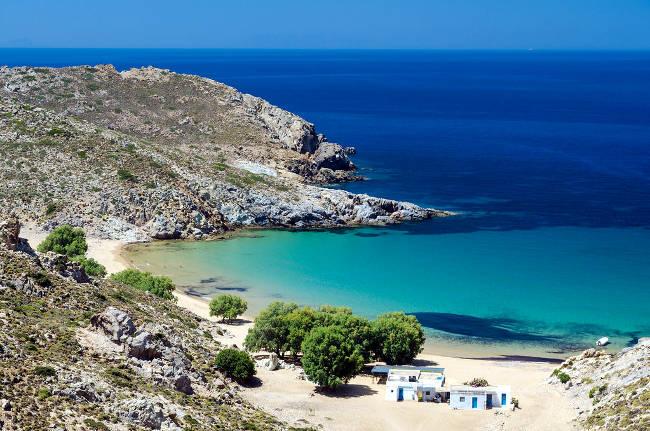 Psili Ammos, la mia spiaggia preferita sull'isola greca di Patmos.