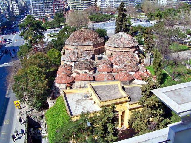 Il bagno turco di Bey Hamam a Salonicco.