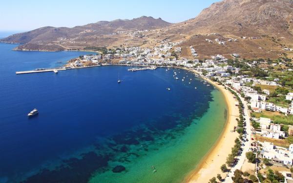 Spiaggia di Serifos, nelle isole Cicladi.