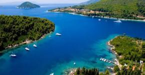 Isola di Skopelos in Grecia.