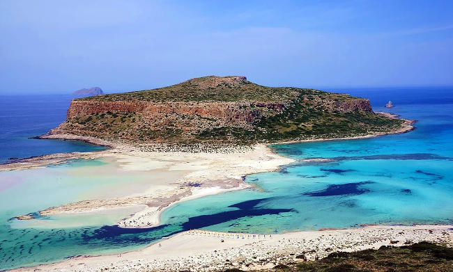 Spiaggia di Balos in Grecia, Creta.