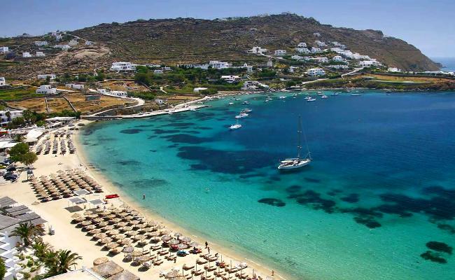 Spiaggia di Ornos, Mykonos.