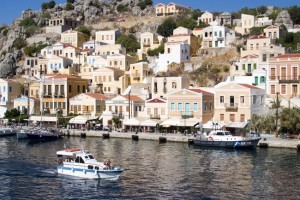 Case della bellissima isola greca di Symi.
