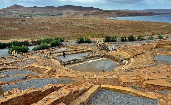 L'antico teatro ellenistico-romano di Efestia sull'isola di Limnos.