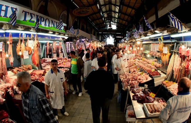 Varvakios Agora, il mercato centrale di Atene.