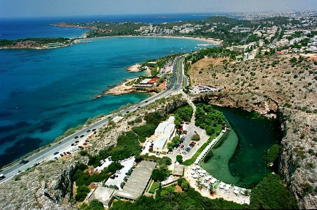 Vista di Vouliagmeni, Atene.